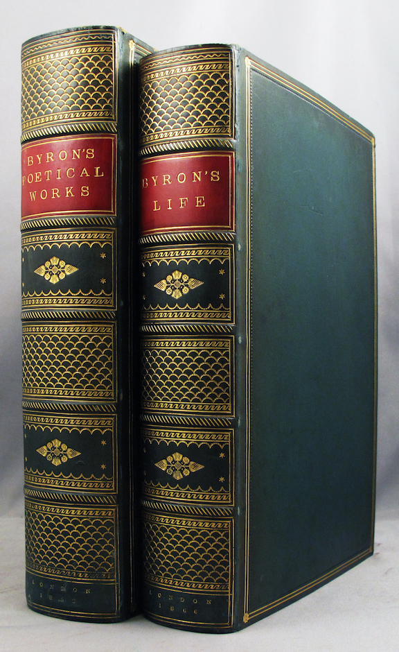 POETICAL WORKS OF LORD BYRON. Collected and Arranged, With Notes and Illustrations [with,] Moore, Thomas, editor. THE LIFE, LETTERS AND JOURNALS OF LORD BYRON. Collected and Arranged with Notes by Sir Walter Scott, Lord Jeffery, [et al]. Lord Byron, George Gordon.