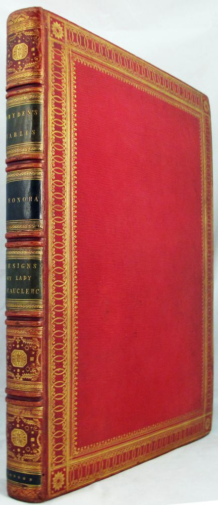 FABLES OF JOHN DRYDEN [Bound with] LEONORA Translated from the German of Gottfried Augustus Bürger by W. R. Spencer. Fables, John Bürger Dryden, Gottfried Augustus, and, Fine Binding.