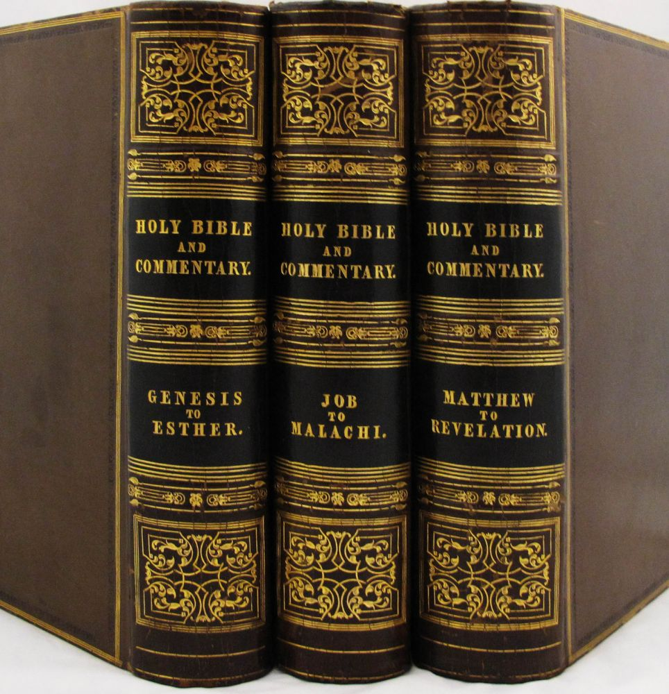 Holy Bible, the Text According to the Authorized Version and a Commentary from Henry and Scott with Numerous Observations and Notes from Other Authors; Also the Marginal References, Maps of the Countries Mentioned in Scripture & Various Useful Tables. Bible.