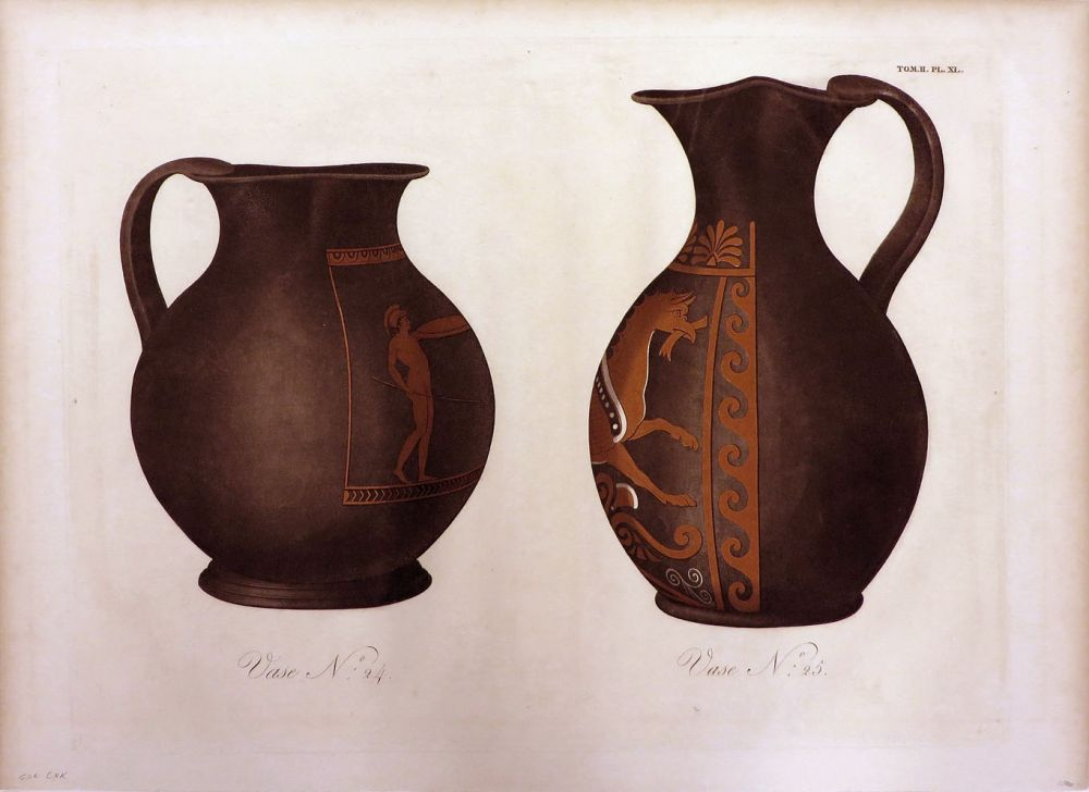 Vase N 24 And Vase N 25 An Original Colour Aquatint Plate From