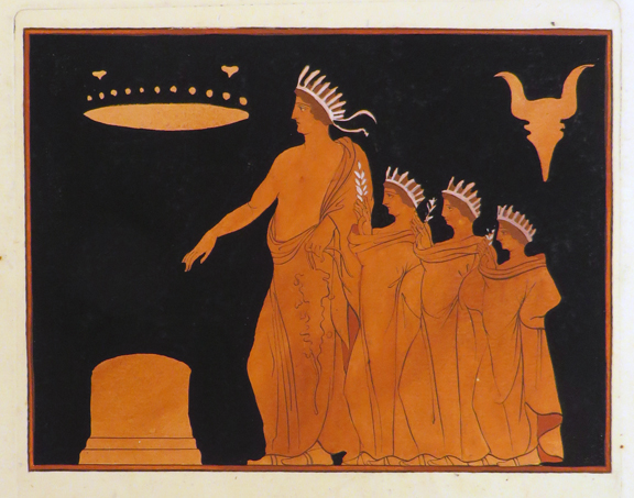 Original Hand-Coloured Aquatint Engraving From] SIR WILLIAM HAMILTON'S Collection of Etruscan, Greek, and Roman Antiquities.... ]. Sir William Hamilton, Antiquities; Art Prints.