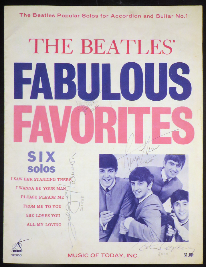 BEATLES' FABULOUS FAVORITES Six Solos [SIGNED BY ALL FOUR BEATLES]. The Beatles.