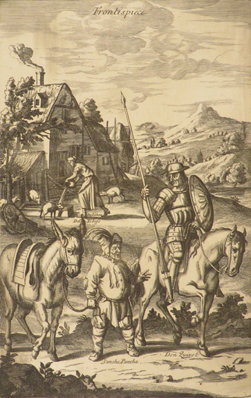 HISTORY OF THE MOST RENOWNED DON QUIXOTE OF MANCHA: AND HIS TRUSTY SQUIRE SANCHO PANCHA. Now made English according to the Humour of our Modern Language. And Adorned with several Copper Plates. By J.P. Miguel de Cervantes Saavedra.