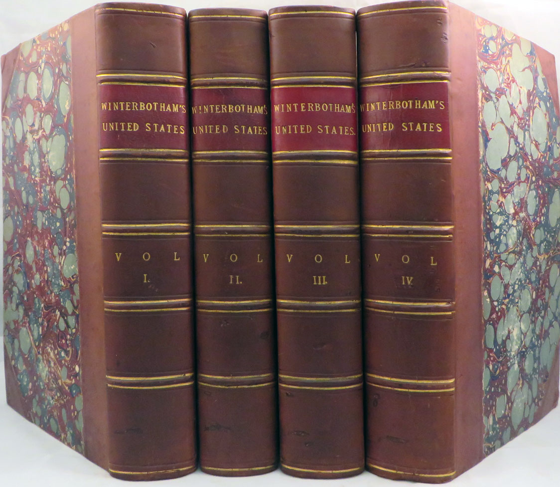HISTORICAL GEOGRAPHICAL, COMMERCIAL, AND PHILOSOPHICAL VIEW OF THE AMERICAN UNITED STATES, and of the European Settlements in America and the West-Indies. Winterbotham, illiam.
