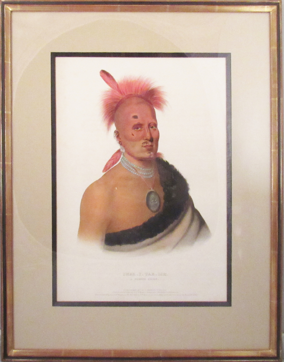 [Plate] SHAR-I-TAR-ISH. A Pawnee Chief. [From HISTORY OF THE INDIAN TRIBES OF NORTH AMERICA]. Native American, Thomas L. McKenney, James Hall.