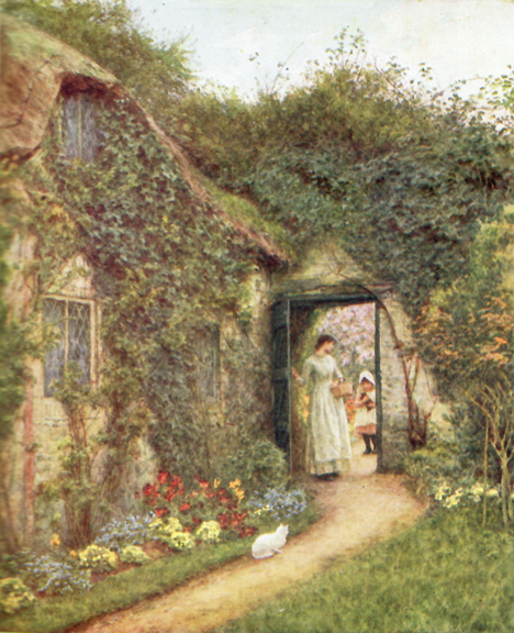 HAPPY ENGLAND As Painted by Helen Allingham With a Memoir and Descriptions by Marcus B. Huish. England, Helen Allingham, Marcus B. Huish.