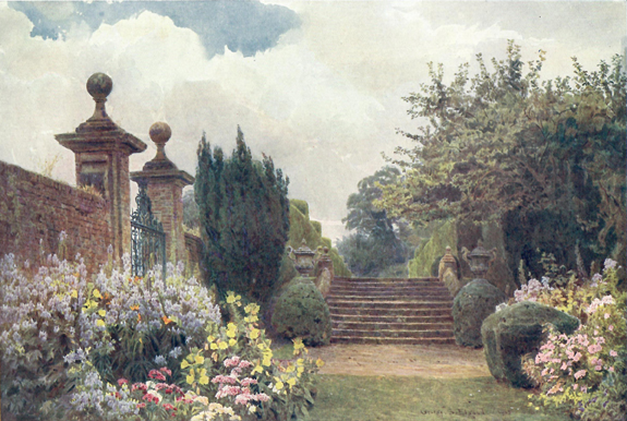 Some English Gardens After Drawings By George S Elgood R I