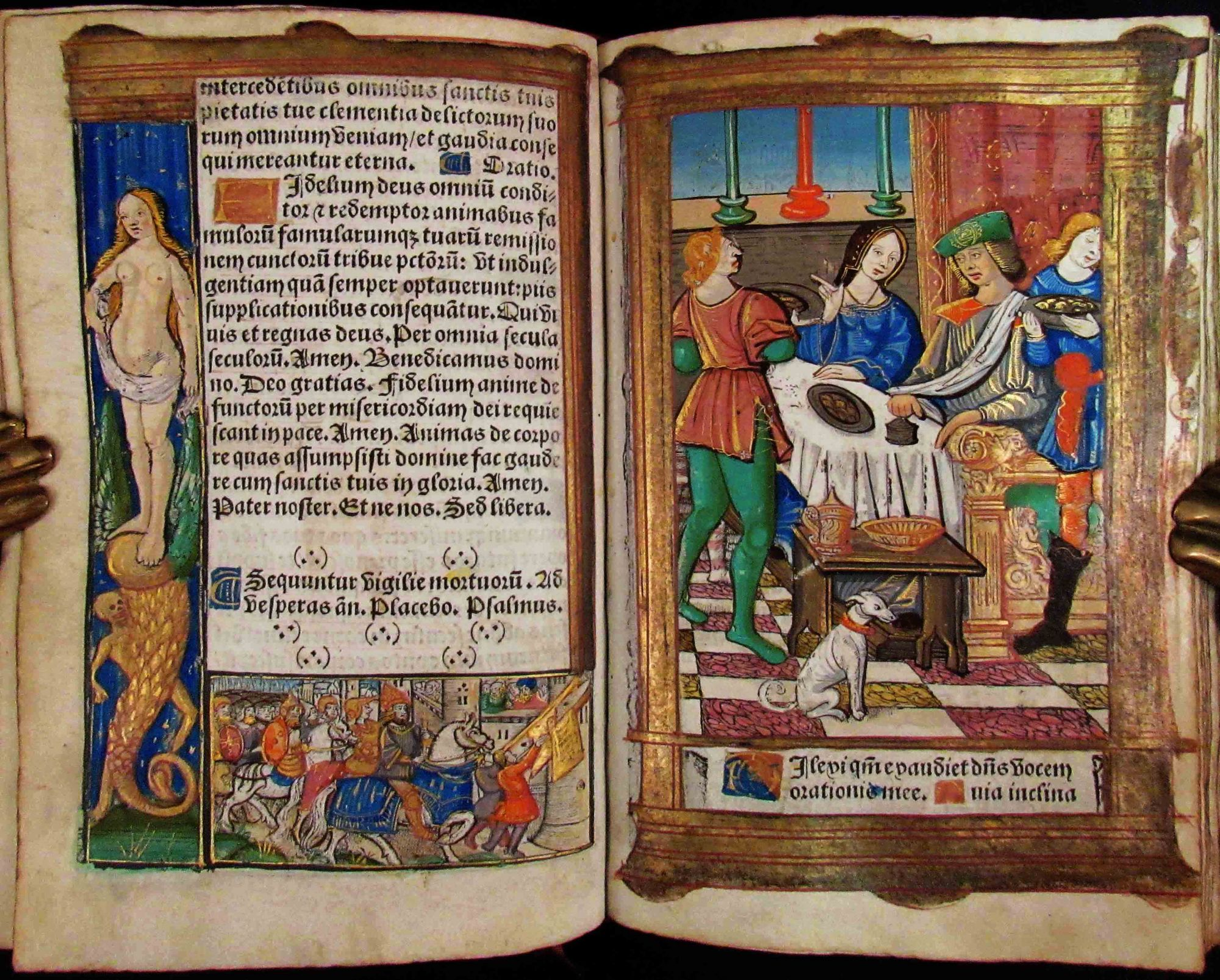 BOOK OF HOURS, Latin and French, Use of Rome. Latin Book of Hours, Use of Rome French.