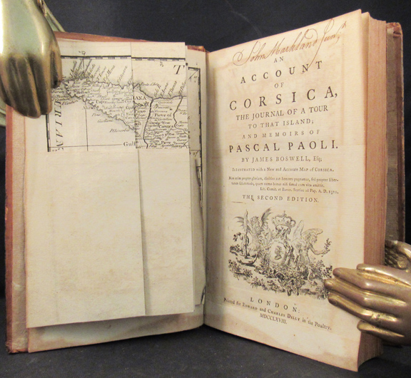 ACCOUNT OF CORSICA, The Journal of a Tour to that Island; and Memoirs of Pascal Paoli. James Boswell.