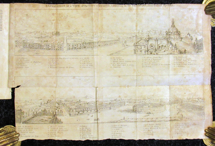 DESCRIPTION OF THE PANORAMA OF THE SUPERB CITY OF MEXICO, and the Surrounding Scenery, Painted on 2700 Square Feet of Canvas by Robert Burford, Esq. From Drawings Made on the Spot, at the Request of the Mexican Government, By Mr. W. Bullock, Jr. Now Open for Public Inspection at the Rotunda, New York. William Burford.