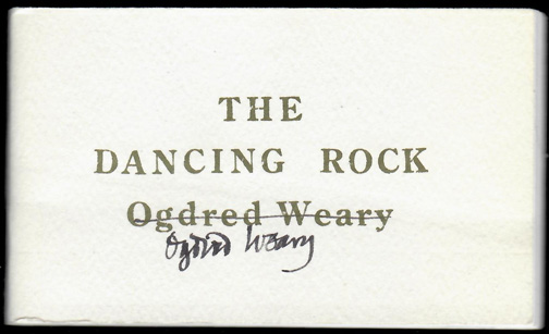 DANCING ROCK [and] THE FLOATING ELEPHANT. Edward Gorey, Ogdred Weary, Dogear Wryde.