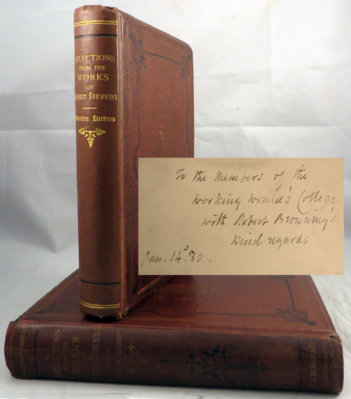 SELECTIONS FROM THE POETICAL WORKS OF ROBERT BROWNING [with] SELECTIONS...Second Series. Robert Browning.