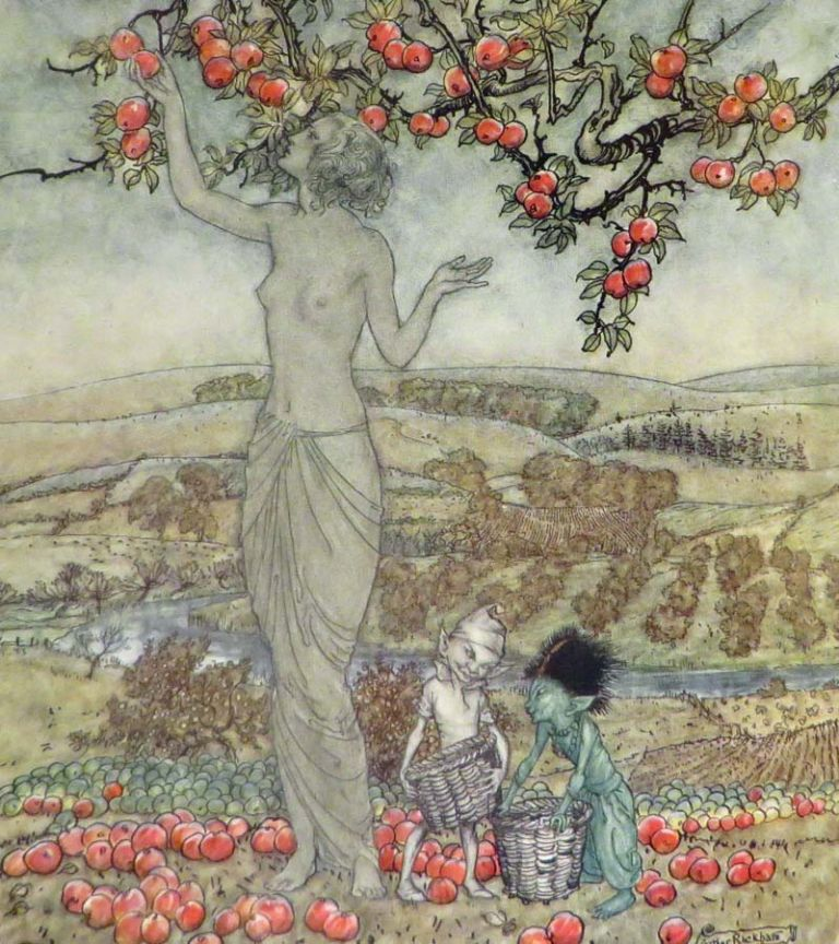 DISH OF APPLES. Rackham, Eden Phillpotts