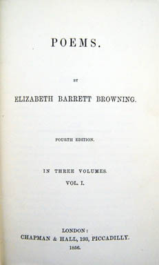 POEMS. Elizabeth Barrett Browning