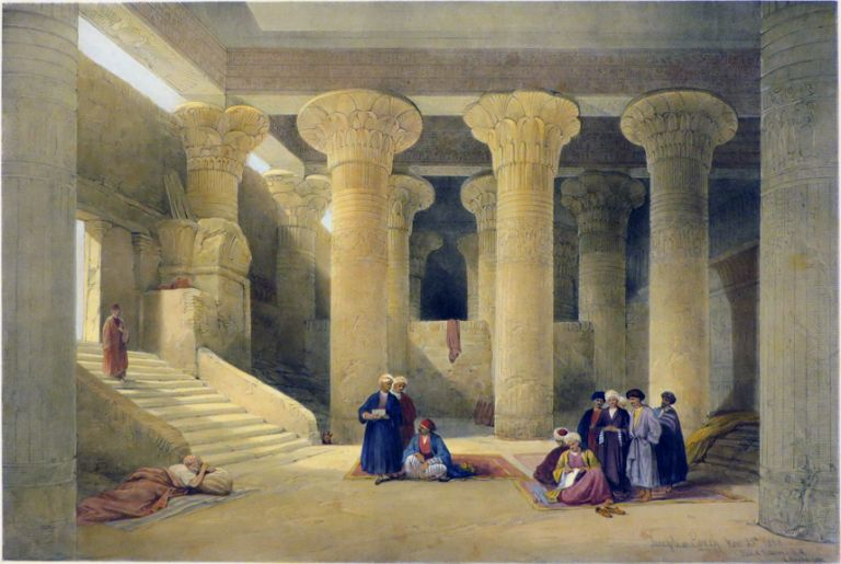 TEMPLE OF ESNEH [Being. David Roberts, Egypt