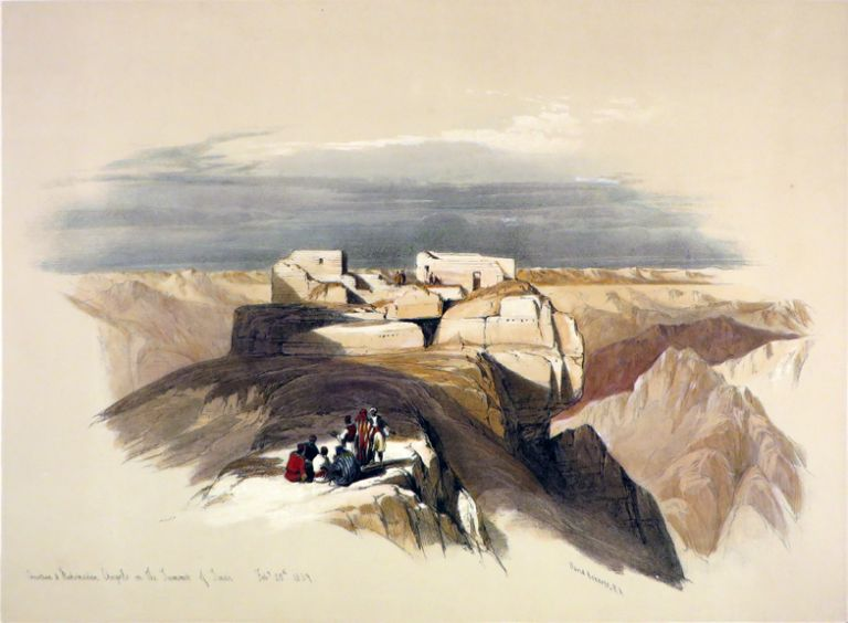 Christian and Mahometan Chapels. David Roberts, Egypt.