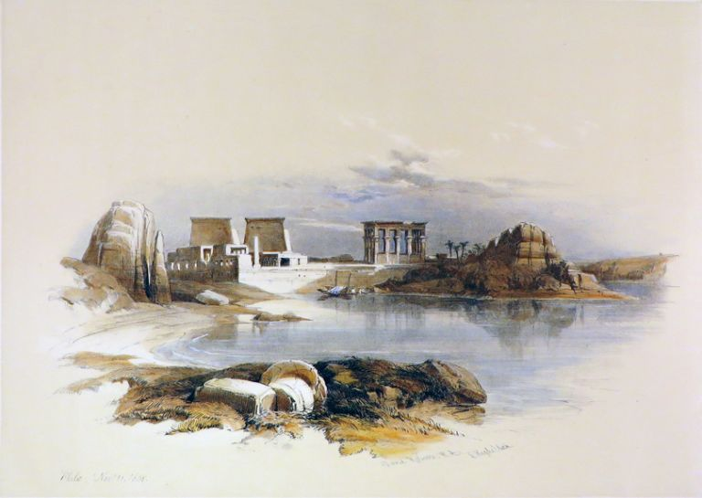 PHILAE [Showing the Temple. David Roberts, Egypt.