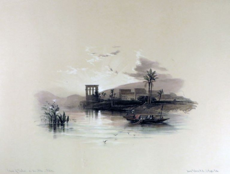 Island of PHILAE on. David Roberts, Egypt.