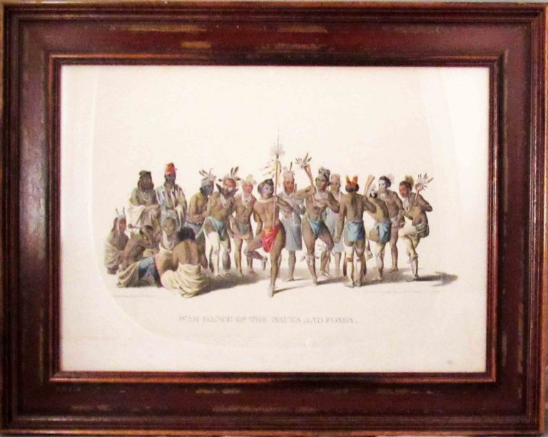 Plate] WAR DANCE OF. Native American, Thomas L. McKenney, James Hall