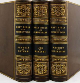 Holy Bible, the Text According to the Authorized Version and a Commentary from Henry and Scott with Numerous Observations and Notes from Other Authors; Also the Marginal References, Maps of the Countries Mentioned in Scripture & Various Useful Tables