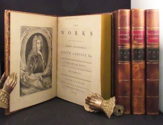 WORKS OF THE LATE RIGHT HONORABLE JOSEPH ADDISON, Esq. With a Complete Index