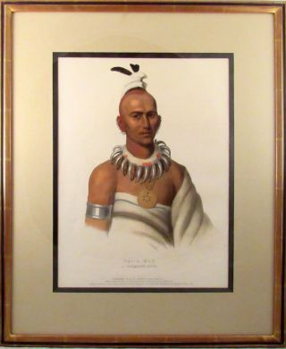 [Plate] TAI-O-MAH, A Musquakee Brave [From HISTORY OF THE INDIAN TRIBES OF NORTH AMERICA]
